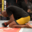 Anderson Silva reacts after defeating Nick Diaz at UFC 183 on Saturday. (USAT)
