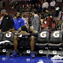 Orlando Magic's Glen Davis sits on the bench after fouling out during double overtime of an NBA basketball game against the Philadelphia 76ers, Tuesday, Dec. 3, 2013, in Philadelphia The Associated Press