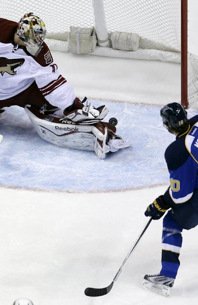 Smith makes 37 saves, Coyotes beat Blues 3-2 in OT