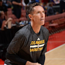 ANAHEIM, CA - OCTOBER 16: Steve Nash #10 of the Los Angeles Lakers warms up before a game against the Utah Jazz at Honda Center on October 16, 2014 in Anaheim, California. (Photo by Andrew D. Bernstein/NBAE via Getty Images)