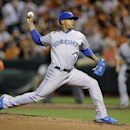 Toronto Blue Jays starting pitcher Marcus Stroman throws to the Baltimore Orioles in the first inning of a baseball game, Monday, Sept. 15, 2014, in Baltimore. (AP Photo/Patrick Semansky)