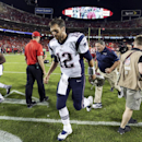 New England Patriots quarterback Tom Brady jogs off the field following a 41-14 loss to the Kansas City Chiefs in an NFL football game Monday, Sept. 29, 2014, in Kansas City, Mo The Associated Press