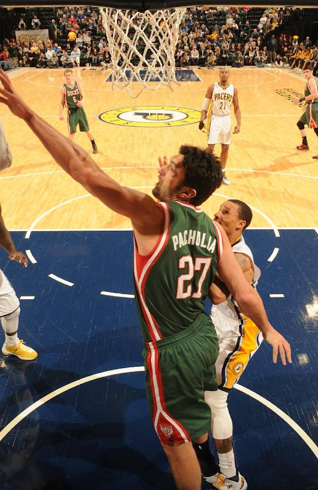 Roy Hibbert leads Pacers past Bucks, 101-96