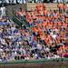 New York Mets fans take over a section of the Wrigley Field bleachers during a baseball game against the Chicago Cubs game in Chicago on Saturday, May 18, 2013