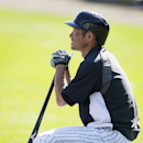 New York Yankees right fielder Ichiro Suzuki waits to take batting practice before an exhibition baseball game against the Washington Nationals Monday, March 3, 2014, in Tampa, Fla The Associated Press