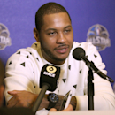 NEW ORLEANS, LA - FEBRUARY 14: Carmelo Anthony #7 of the New York Knicks answers questions during NBA All Star Press Conferences and Media Availability as part of 2014 All-Star Weekend at the Hyatt Regency Hotel on February 14, 2014 in New Orleans, Louisiana. (Photo by Bruce Yeung/NBAE via Getty Images)