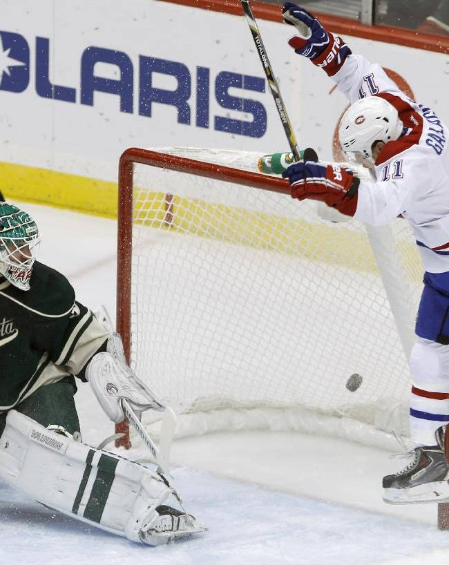 Pominville scores 2, Wild top Canadiens 4-3