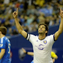 Orlando City SC midfielder Kaka celebrates after scoring a goal against the Montreal Impact during the first half at the Olympic Stadium. Mandatory Credit: Eric Bolte-USA TODAY Sports