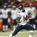 Chicago Bears wide receiver Santonio Holmes (14) runs against the Atlanta Falcons during the second half of an NFL football game, Sunday, Oct. 12, 2014, in Atlanta The Associated Press