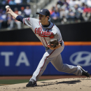 Atlanta Braves starting pitcher David Hale throws the ball during the first inning of a baseball game against the New York Mets, Sunday, April 20, 2014 in New York The Associated Press