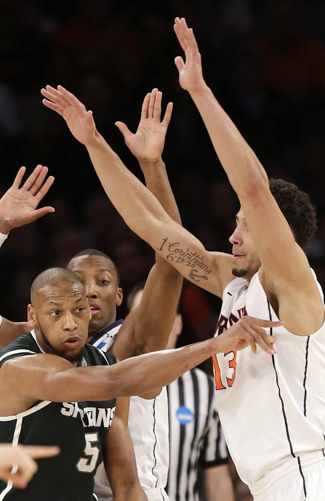 Michigan State beats Virginia 61-59