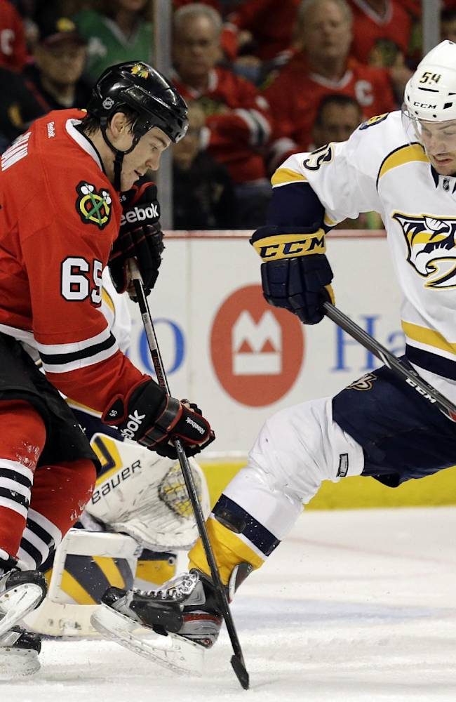 Josi, Weber lead Predators past Blackhawks 3-2