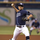 Tampa Bay Rays starter Chris Archer pitches against the Boston Red Sox during the first inning of a baseball game Friday, May 23, 2014, in St. Petersburg, Fla. (AP Photo/Steve Nesius)