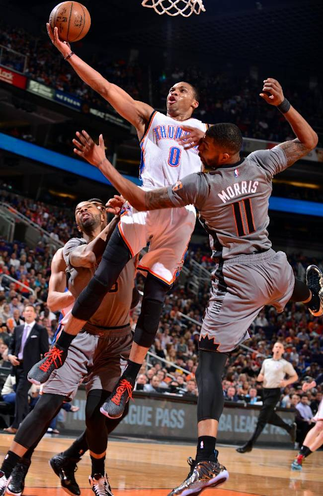 Westbrook gets triple-double but Suns beat Thunder 117-113