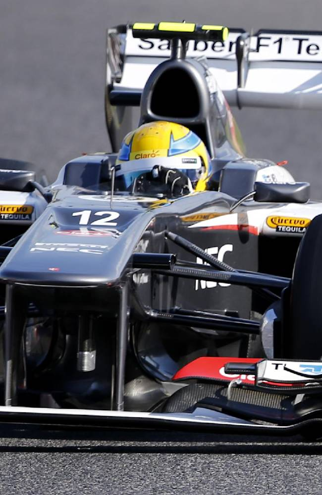 Sauber driver Esteban Gutierrez of Mexico steers his car in the qualifying session for the Japanese Formula One Grand Prix at the Suzuka Circuit in Suzuka, Japan, Saturday, Oct. 12, 2013