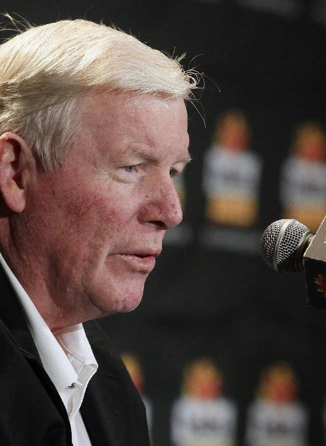 Central Florida head coach George O'Leary acknowledges the media during and NCAA college football news conference, Tuesday, Dec. 31, 2013, in Scottsdale, Ariz. UCF plays Baylor at the Fiesta Bowl on New Year's Day in Glendale, Ariz