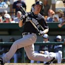 New York Yankees' Brendan Ryan strikes out to end the second inning during an exhibition spring training baseball game against the Detroit Tigers in Lakeland, Fla., Friday, Feb. 28, 2014. The Yankees won 7-4 The Associated Press