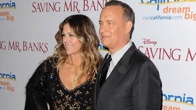 Tom Hanks And Rita Wilson Dish On Dealing With Tom's Facial Hair For 'Saving...