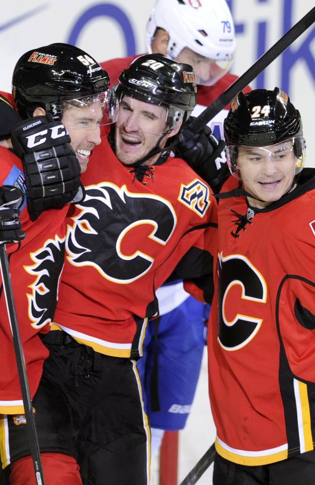 Monahan's goal, assist lift Flames over Canadiens