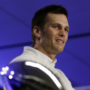 New England Patriots quarterback Tom Brady speaks during a news conference after the NFL Super Bowl XLIX football game Monday, Feb. 2, 2015, in Phoenix, Ariz. The Patriots beat the Seattle Seahawks 28-24. Brady was named the game's most valuable player. (AP Photo/David J. Phillip)