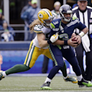 Green Bay Packers' Clay Matthews sacks Seattle Seahawks' Russell Wilson during the second half of the NFL football NFC Championship game Sunday, Jan. 18, 2015, in Seattle The Associated Press