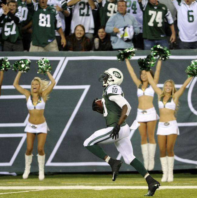 Holmes has blast of 'Tone Time' past for Jets
