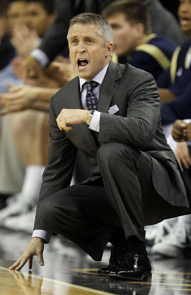 In this photo taken Friday, Nov. 11, 2011, Georgia Tech  head coach Brian Gregory yells to his team in the first half of an NCAA college basketball game against Florida A&M in Duluth, Ga.  Gregory is about to begin the third season of his rebuilding job at Georgia Tech. The first two years were all about setting standards defensively for the program, and last season's roster met Gregory's expectations to improve the offense by cutting down on turnovers and increasing assists