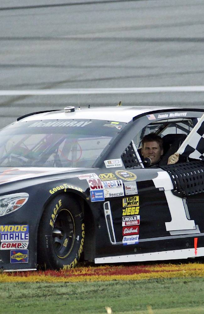 McMurray wins largely clean race at Talladega