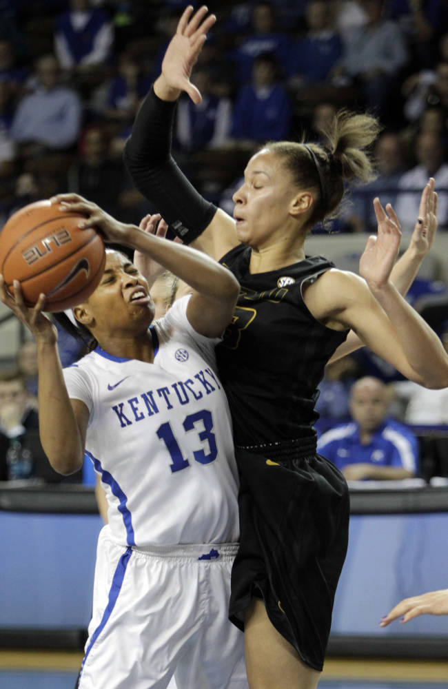 Goss leads No. 9 Kentucky women over Missouri