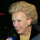 Ann Mara, the widow of former New York Giants' owner Wellington Mara is interviewed after getting of a team bus at Giants Stadium Stadium in East Rutherford, N.J. Monday, Feb. 4, 2008. The Giants returned home from Arizona after a 17-14 victory over the New England Patriots in Super Bowl XLII. (AP Photo/Rich Schultz)