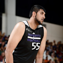 LAS VEGAS, NV - JULY 13: Sim Bhullar #55 of the Sacramento Kings stands on the court during a game against the Charlotte Hornets at the Samsung NBA Summer League 2014 on July 13, 2014 at the Cox Pavilion in Las Vegas, Nevada. (Photo by Garrett Ellwood/NBAE via Getty Images)