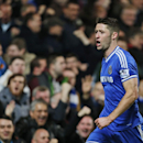 Chelsea s Gary Cahill runs to celebrate after scoring against Southampton during their English Premier League soccer match at the Stamford bridge ground in London, Sunday, Dec. 1, 2013. Chelsea won the match 3-1