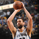MEMPHIS, TN - MAY 15: Marc Gasol #33 of the Memphis Grizzlies prepares to shoot a free throw against the Golden State Warriors in Game Six of the Western Conference Semifinals during the 2015 NBA Playoffs on May 15, 2015 at the FedExForum in Memphis, Tennessee. (Photo by Noah Graham/NBAE via Getty Images)