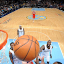 DENVER, CO - JANUARY 25: John Wall #2 of the Washington Wizards goes up for a shot against the Denver Nuggets on January 25, 2015 at the Pepsi Center in Denver, Colorado. (Photo by Garrett W. Ellwood/NBAE via Getty Images)