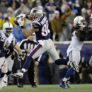 New England Patriots wide receiver Danny Amendola (80) cannot catch a pass from quarterback Tom Brady during the first half of the NFL football AFC Championship game against the Indianapolis Colts Sunday, Jan. 18, 2015, in Foxborough, Mass The Associated