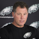 Philadelphia Eagles offensive coordinator Pat Shurmur speaks with members of the media during NFL football practice at the team's training facility, Tuesday, Sept. 30, 2014, in Philadelphia The Associated Press