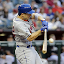 New York Mets' David Wright connects for a base hit against the Arizona Diamondbacks during the first inning of the MLB National League baseball game on Tuesday, April 15, 2014, in Phoenix The Associated Press