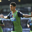 Newcastle United's Spanish player Ayoze Perez celebrates scoring their first goal during the English Premier League soccer match at the Hawthorns, West Bromwich, England, Sunday Nov. 9, 2014. (AP Photo / David Davies, PA)