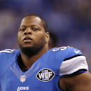 This Sept. 21, 2014, file photo shows Detroit Lions defensive tackle Ndamukong Suh during warm-ups before an NFL football game against the Green Bay Packers in Detroit. Suh can become a free agent after this season, and there's already talk he could be he