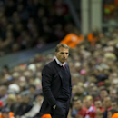 Liverpool's manager Brendan Rodgers stands on the touchline during the English League Cup soccer match between Liverpool and Swansea at Anfield Stadium, Liverpool, England, Tuesday Oct. 28, 2014