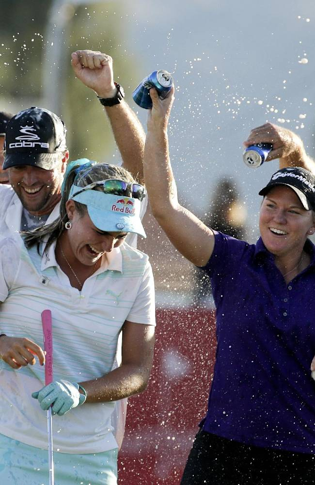 Lexi Thompson back to work in Texas as major champ