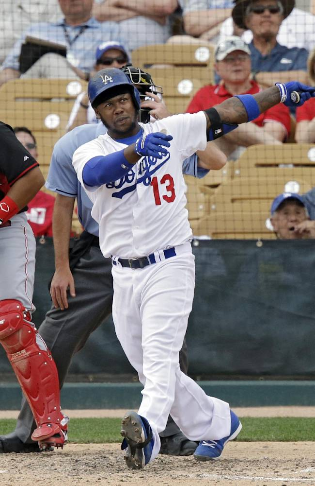 Maholm hit hard in Dodgers' 8-2 loss to Reds