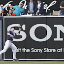 San Diego Padres right fielder Chris Denorfia makes the running catch in the right field corner to take a hit away from Detroit Tigers' Austin Jackson in the first inning of a baseball game Saturday, April 12, 2014, in San Diego The Associated Press