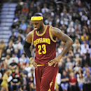 SALT LAKE CITY, UT - NOVEMBER 5: LeBron James #23 of the Cleveland Cavaliers reacts to a pair of Utah Jazz free throws in the last minute of their game at EnergySolutions Arena on November 5, 2014 in Salt Lake City, Utah. The Utah Jazz won 102-100. (Photo by Gene Sweeney Jr/Getty Images)
