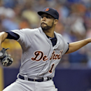 Detroit Tigers starting pitcher David Price delivers to the Tampa Bay Rays during the fourth inning of a baseball game Thursday, Aug. 21, 2014, in St. Petersburg, Fla. (AP Photo/Chris O'Meara)