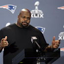 New England Patriots defensive tackle Vince Wilfork answers questions during a news conference Wednesday, Jan. 28, 2015, in Chandler, Ariz. The Patriots play the Seattle Seahawks in NFL football Super Bowl XLIX Sunday, Feb. 1, in Phoenix The Associated Pr