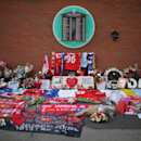 Tributes Are Paid To The 96 Liverpool Fans Unlawfully Killed At Hillsborough