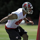 Tampa Bay Buccaneers wide receiver Vincent Jackson cuts around a blocking dummy during a voluntary minicamp NFL football practice Wednesday, April 23, 2014, in Tampa, Fla The Associated Press