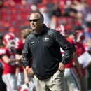Georgia head coach Mark Richt looks on as his team warms up before the first half of an NCAA college football game against Troy Saturday, Sept. 20, 2014, in Athens, Ga The Associated Press