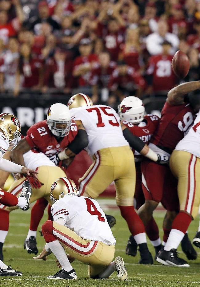 Dawson's FG gives 49ers 23-20 win over Arizona